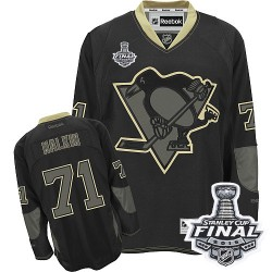 Men's Reebok Pittsburgh Penguins 71 Evgeni Malkin Authentic Black Ice 2016 Stanley Cup Final Bound NHL Jersey