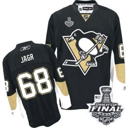 Men's Reebok Pittsburgh Penguins 68 Jaromir Jagr Authentic Black Home 2016 Stanley Cup Final Bound NHL Jersey