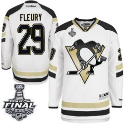 Men's Reebok Pittsburgh Penguins 29 Marc-Andre Fleury Authentic White 2014 Stadium Series 2016 Stanley Cup Final Bound NHL Jerse