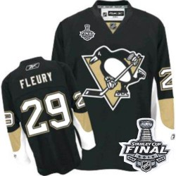 Women's Reebok Pittsburgh Penguins 29 Marc-Andre Fleury Premier Black Home 2016 Stanley Cup Final Bound NHL Jersey