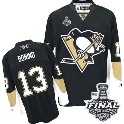 Men's Reebok Pittsburgh Penguins 13 Nick Bonino Authentic Black Home 2016 Stanley Cup Final Bound NHL Jersey
